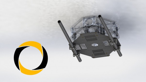 Gimbalhalter und Akkuplatte Tarot für Quadrocopter